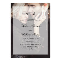 Modern Wedding Engagement Party | Photo Overlay Invitation