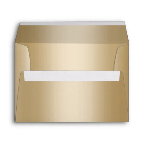 Modern Wedding Faux Gold Foil 5X7 Envelope