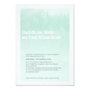 MODERN WEDDING INVITATION : ombre watercolor mint 5