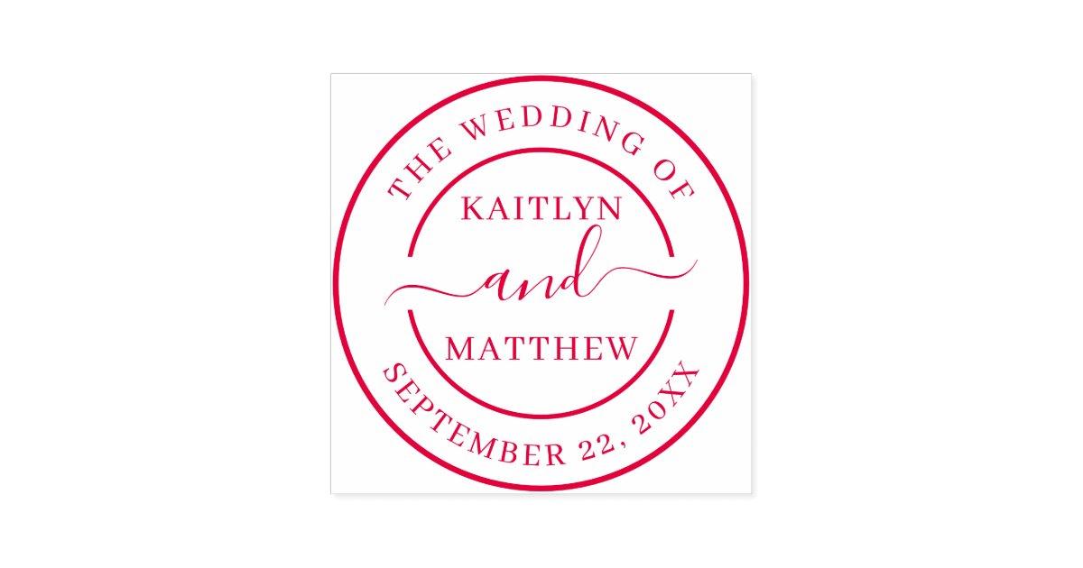 Modern Wedding Invitation Seal Custom