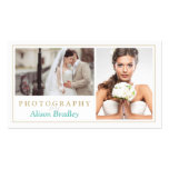 Modern Wedding Photography Studio Elegant Stylish Business Card