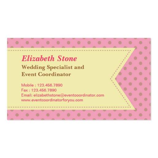 Modern wedding planner business card zazzle for Wedding planning business cards