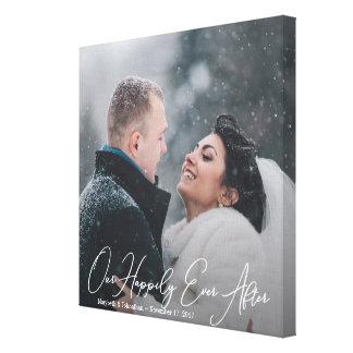 Modern Wedding Quote Custom Photo Canvas Print