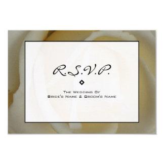 Modern Wedding RSVP  - Off White Rose 3.5x5 Paper Invitation Card