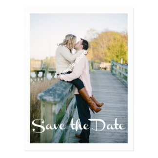 Modern Wedding, Save the Date, Photo Postcard