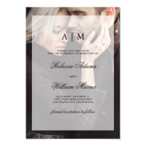 Modern Wedding Save the Date | Photo with Overlay Magnetic Invitation