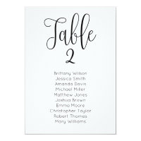 Modern wedding seating chart. Classic table plan Invitation
