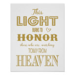 Modern Wedding sign In Memory of loved one print