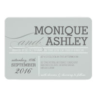 MODERN WEDDING simple bold text monochrome gray Card