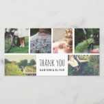 """Modern Wedding Thank You Six Photo Collage<br><div class=""""desc"""">Modern Wedding Thank You Six Photo Collage</div>"""