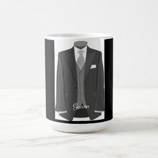 Modern Wedding Tuxedo Coffee Cup Groom Mug Gift