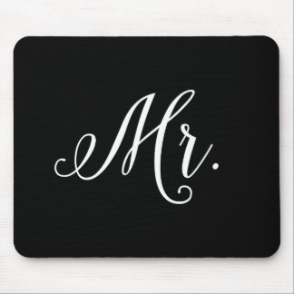Modern Wedding Typography Groom Mouse Pad