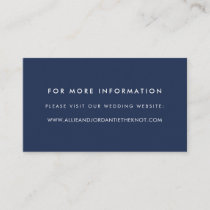 Modern Wedding Website Cards | Navy