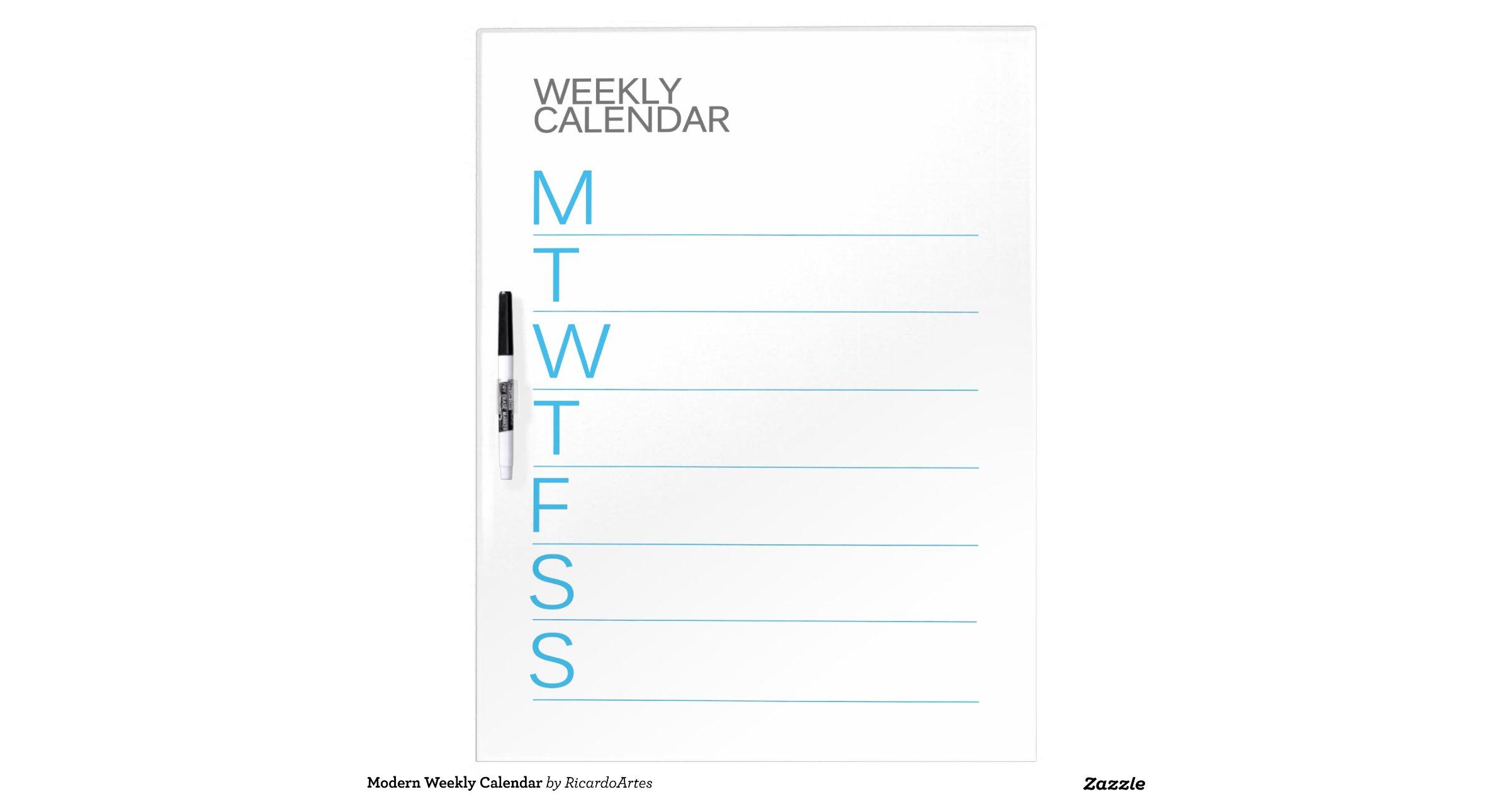 Dry Erase Weekly Calendar Board : Weekly calendar dry erase board driverlayer search engine