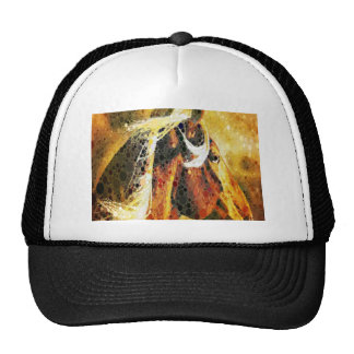 modern western country abstract horse trucker hat