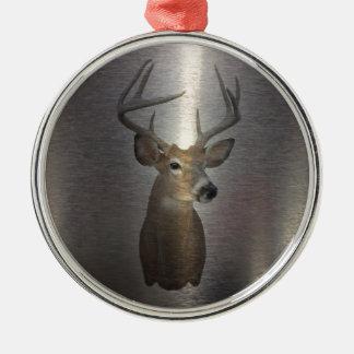 modern western country deer head christmas tree ornaments