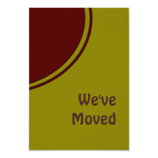 Modern We've Moved 3.5x5 Paper Invitation Card