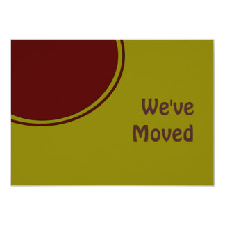 Modern We've Moved 4.5x6.25 Paper Invitation Card