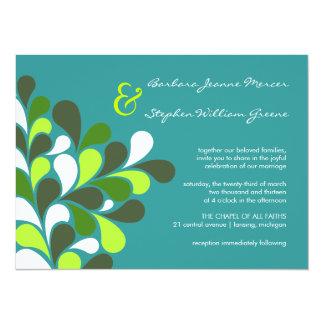 "Modern Whimsical Tree Wedding Invitations 5.5"" X 7.5"" Invitation Card"
