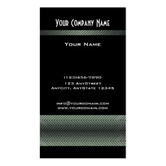 Modern White and Black Racing Stripe Double-Sided Standard Business Cards (Pack Of 100)