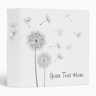Modern White Dandelions Binder