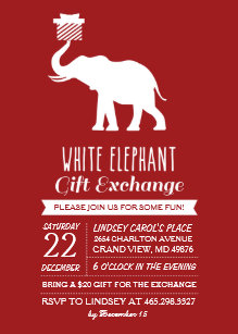 White Elephant Exchange Invitations | Zazzle