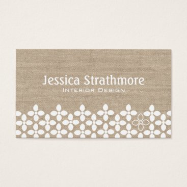 Professional Business Modern White Flower Business Card