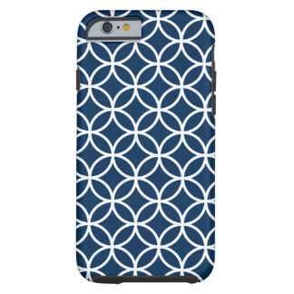 Modern White Geometric Pattern Tough iPhone 6 Case