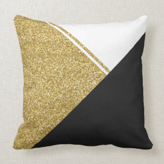 Black Gold Pillows - Decorative & Throw Pillows Zazzle