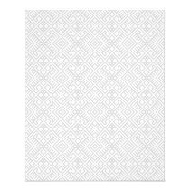 Modern White Gray Geometric Pattern Flyer
