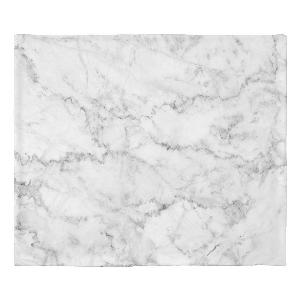 Modern White & Gray Marble Stone Print