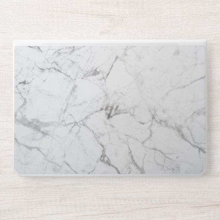 Modern White Marble Background Hp Laptop Skin Zazzle Com