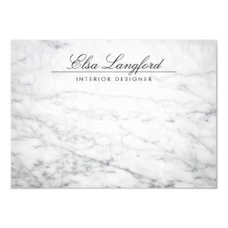 Modern White Marble Luxury Designer Flat Notecard