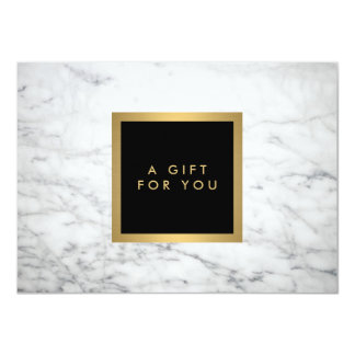 Modern White Marble Luxury Gift Certificate Card