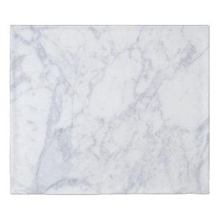 Modern White Marble Stone Print Duvet Cover at Zazzle
