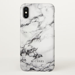 Modern White Marble Stone Texture Pattern iPhone X Case