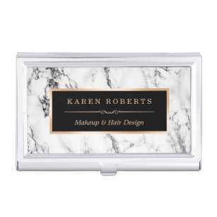 White marble business card holders cases zazzle modern white marble stone texture stylish look business card case colourmoves