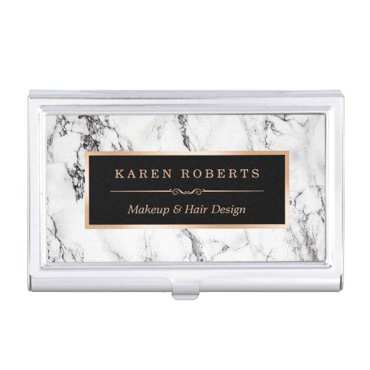 Modern white marble stone texture stylish look business card case modern white marble stone texture stylish look business card case colourmoves