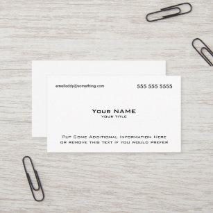Qr code business cards zazzle modern white qr code business card colourmoves