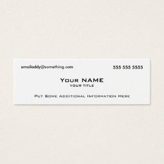 Modern White QR Code Mini Business Card