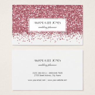 Real glitter business cards arts arts rosegold business cards templates zazzle reheart Images
