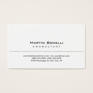 Modern White Simple Consultant Business Card