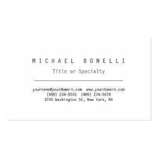Modern White Simple Stylish Business Card