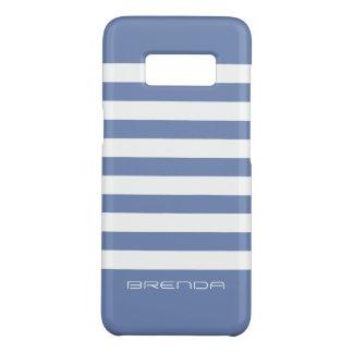 Modern White Stripes Powder-Blue Background Case-Mate Samsung Galaxy S8 Case