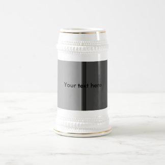 Modern wide black and gray stripes mugs