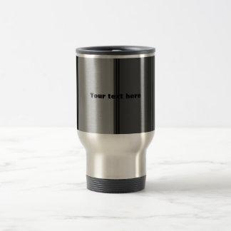 Modern wide black and gray stripes mug