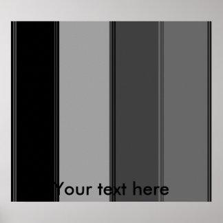 Modern wide black and gray stripes print