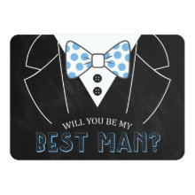 Modern Mens Best Man Wedding Cards