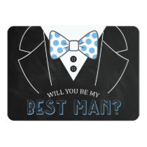 MODERN WILL YOU BE MY BEST MAN | GROOMSMAN CARD