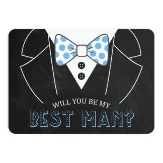 MODERN WILL YOU BE MY BEST MAN | GROOMSMAN CARD